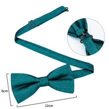Load image into Gallery viewer, Men's Ties & Handkerchiefs Solid Green Men's Bow Tie Set - Suit Monkey UK
