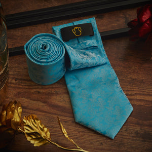 Men's Ties & Handkerchiefs Blue Garden Men's Necktie Set - Suit Monkey UK