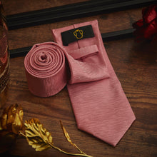 Load image into Gallery viewer, Men's Ties & Handkerchiefs Pink Men's Necktie Set - Suit Monkey UK