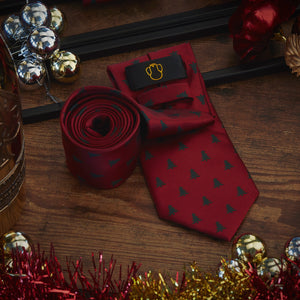 Men's Ties & Handkerchiefs Small Christmas Tree Men's Necktie Set - Suit Monkey UK