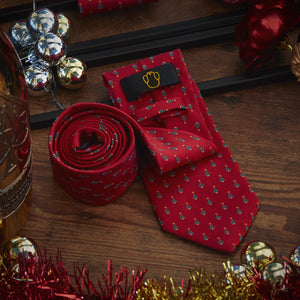 Men's Ties & Handkerchiefs Christmas Tree Men's Necktie Set - Suit Monkey UK