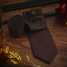 Load image into Gallery viewer, Men's Ties & Handkerchiefs Dark Brown Men's Necktie Set - Suit Monkey UK