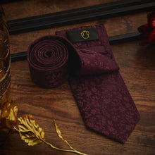 Load image into Gallery viewer, Men's Ties & Handkerchiefs Purple Floral Men's Necktie Set - Suit Monkey UK