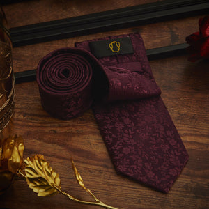 Men's Ties & Handkerchiefs Purple Floral Men's Necktie Set - Suit Monkey UK