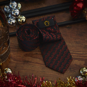Men's Ties & Handkerchiefs Black HoHoHo Men's Necktie Set - Suit Monkey UK