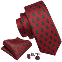Load image into Gallery viewer, Men's Ties & Handkerchiefs Large Christmas Tree Men's Necktie Set - Suit Monkey UK