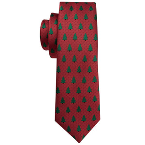 Men's Ties & Handkerchiefs Large Christmas Tree Men's Necktie Set - Suit Monkey UK