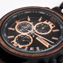 Load image into Gallery viewer, Quartz Watches Bobo Bird Men's Rose Gold & Black Watch - Suit Monkey UK
