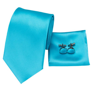 Men's Ties & Handkerchiefs Ice Blue Men's Necktie Set - Suit Monkey UK