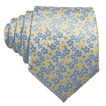 Load image into Gallery viewer, Men's Ties & Handkerchiefs Yellow & Blue Men's Floral Necktie Set - Suit Monkey UK