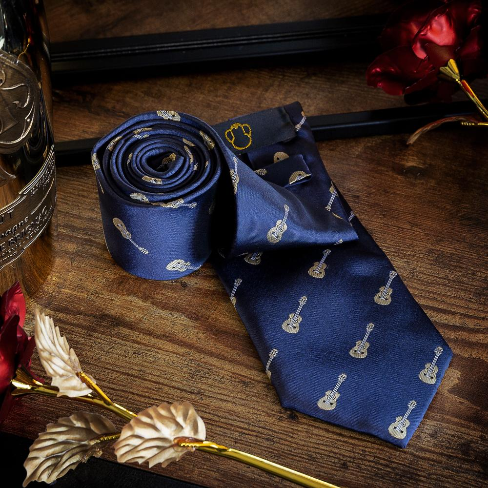 Men's Ties & Handkerchiefs Guitar Men's Necktie Set - Suit Monkey UK