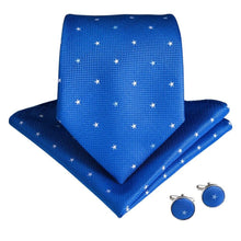 Load image into Gallery viewer, AN-7154 UNAVAILABLE Starry Baby Blue Men's Necktie Set Fashion Accessories DiBanGu Men's Store