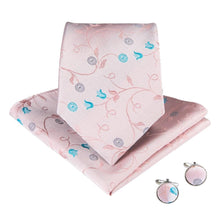 Load image into Gallery viewer, Fashion Accessories Baby Pink Garden Men's Necktie Set - Suit Monkey UK