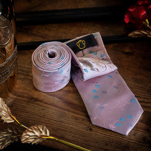 Baby Pink Garden Men's Necktie Set Fashion Accessories Free Shipping!