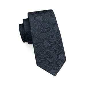 Fashion Accessories Black Mandala Men's Necktie Set - Suit Monkey UK