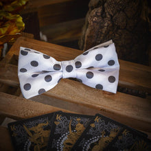 Load image into Gallery viewer, Black & White Polka Dots Men's Bow Tie Set Fashion Accessories Free Shipping!