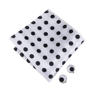 Black & White Polka Dots Men's Bow Tie Set Fashion Accessories Hi-Tie Official Store
