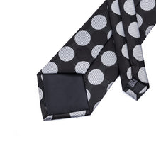 Load image into Gallery viewer, Fashion Accessories Black & White Polka Dots Men's Necktie Set - Suit Monkey UK