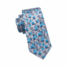 Load image into Gallery viewer, Blue Blossoms Men's Necktie Set Fashion Accessories Hi-Tie Official Store