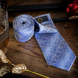 Fashion Accessories Blue Floralia Men's Necktie Set - Suit Monkey UK