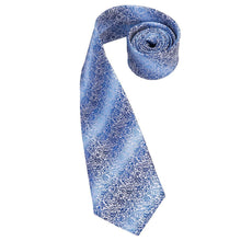 Load image into Gallery viewer, Blue Floralia Men's Necktie Set Fashion Accessories Hi-Tie Official Store