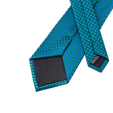 Load image into Gallery viewer, Fashion Accessories Blue Green Diamonds Men's Necktie Set - Suit Monkey UK