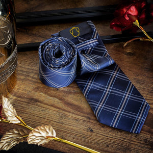 Fashion Accessories Blue Grid Men's Necktie Set - Suit Monkey UK