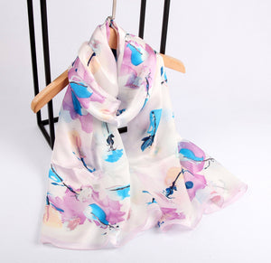 Blue Leaf Ladies' Scarf Fashion Accessories Suit Monkey UK