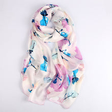 Load image into Gallery viewer, Blue Leaf Ladies' Scarf Fashion Accessories Suit Monkey UK