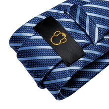 Load image into Gallery viewer, Fashion Accessories Blue on Blue Men's Necktie Set - Suit Monkey UK