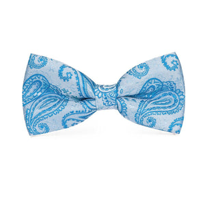 Fashion Accessories Blue Paisley Men's Bow Tie Set - Suit Monkey UK