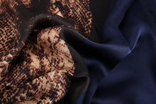 Load image into Gallery viewer, Fashion Accessories Blue Snake Ladies' Scarf - Suit Monkey UK