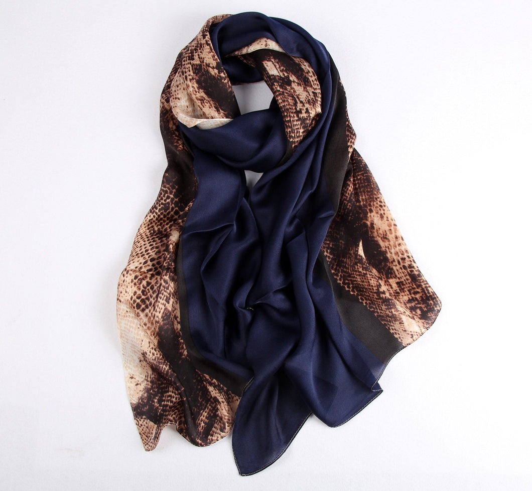 Fashion Accessories Blue Snake Ladies' Scarf - Suit Monkey UK