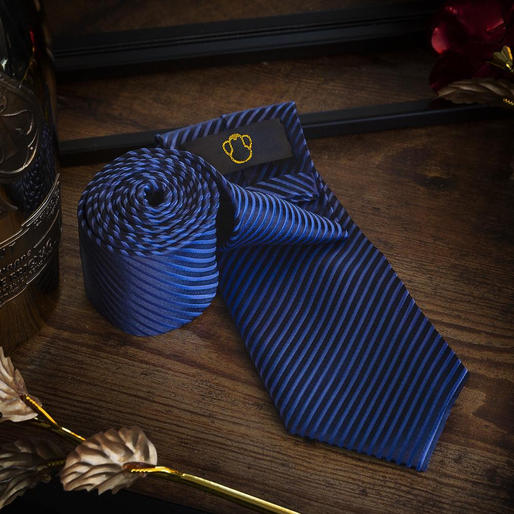 Blue Stripes Men's Necktie Set Fashion Accessories Free Shipping!