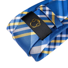 Load image into Gallery viewer, Fashion Accessories Blue Tartan Men's Necktie Set - Suit Monkey UK