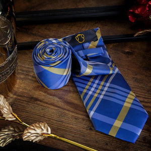 Blue Tartan Men's Necktie Set Fashion Accessories Free Shipping!