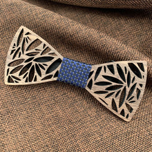 Load image into Gallery viewer, Fashion Accessories Blue Wooden Bow Tie Set - Suit Monkey UK