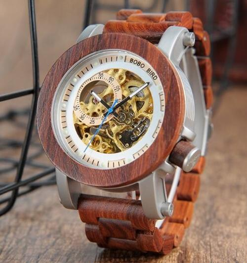 Fashion Accessories Bobo Bird Men's Automatic Mechanical Watch - Suit Monkey UK
