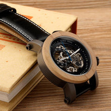 Load image into Gallery viewer, Bobo Bird Men's Automatic Mechanical Watch Classic Wood BBEK12 Fashion Accessories Fuchsia Max