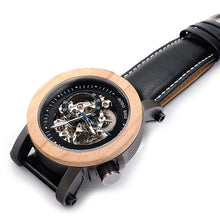 Load image into Gallery viewer, Bobo Bird Men's Automatic Mechanical Watch Classic Wood BBEK12 Fashion Accessories Fuchsia Max Silver