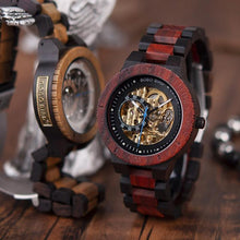 Load image into Gallery viewer, Bobo Bird Men's Automatic Mechanical Wood Watch BBER05 Fashion Accessories Fuchsia Max