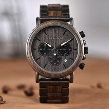 Load image into Gallery viewer, Bobo Bird Men's Chronograph Wood Watch BBEQ26 Fashion Accessories Fuchsia Max