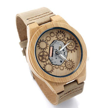 Load image into Gallery viewer, Fashion Accessories Bobo Bird Men's Pale Bamboo Wood Watch - Suit Monkey UK