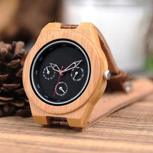 Load image into Gallery viewer, Bobo Bird Men's Wood and Leather Watch BBEH28 Fashion Accessories Fuchsia Max