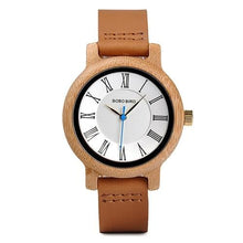 Load image into Gallery viewer, Bobo Bird Unisex Classic Wood Watch BBEQ15 Fashion Accessories Fuchsia Max Brown 38mm