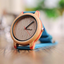 Load image into Gallery viewer, Bobo Bird Unisex Eye Candy Bamboo Wood Watch BBEP27 Fashion Accessories Fuchsia Max