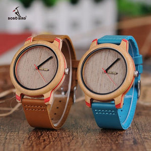 Bobo Bird Unisex Eye Candy Bamboo Wood Watch BBEP27 Fashion Accessories Fuchsia Max