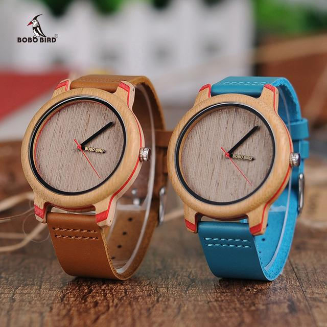 Fashion Accessories Bobo Bird Unisex Eye Candy Bamboo Wood Watch - Suit Monkey UK