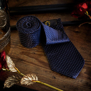 Bronze on Dark Blue Men's Necktie Set Fashion Accessories Free Shipping!