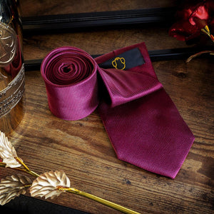 Crimson Red Men's Necktie Set Fashion Accessories Free Shipping!